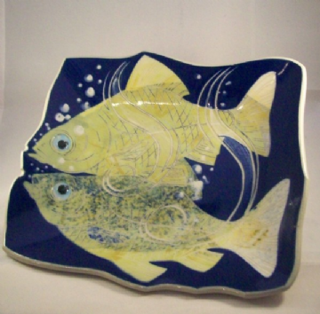 Frank Hamer Ceramic Painting - Bitterling